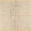 Untitled from Burders Series, 2016, Pencil on Burda Pattern Paper, 57x86 cm2