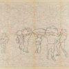 Untitled from Burders Series, 2016, Pencil on Burda Pattern Paper, 57x86 cm7